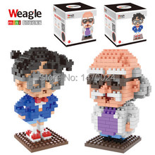 Cartoon Hot Weagle small diamond building blocks children assembled toys wholesale Conan Edgar Set Educational Brick Gift(China)