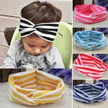 Newborn Stripe Turban Knot Headband Adorable Hair Band Accessories for Christmas Birthday Gift