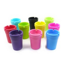 New Mini Portable Ashtray Cigarette Cup Car Butt Bucket Smoke Ash Holder Stand Buckets(China)