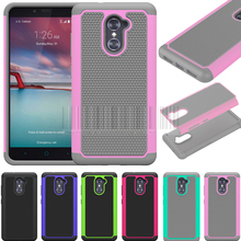 PC+Silicone Dual Layer Anti-shock Soft Protective Soft Case Cover For ZTE Imperial Max Z963U/MAX DUO 4G LTE/ZTE Grand X Max 2(China)
