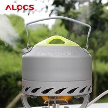Alocs 0.9L Portable Water Kettles Outdoor Camping Survival Coffee Pot Water Kettle Teapot Aluminum Cookware Set 200g