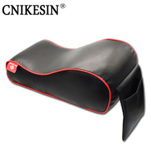 Brand New Leather Car Armrest Pad Universal Vehicle Auto Armrests Covers Car Center Console Arm Rest Seat Box Pads Protective(China)