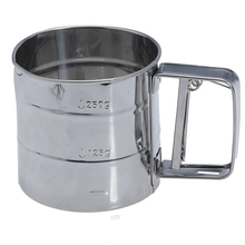 HGHO-100% Good Stainless Steel Flour Sifter Cup Baking Icing Sugar Shaker Strainer Sieve
