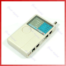 4 in 1 Remote RJ11 RJ45 USB BNC LAN Ethernet Network Phone Cable Tester With leather bag