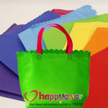 7PCS Rainbow Colors Non-woven Reusable Kids Carrying Shopping Grocery Goodie Bag for Boy Girl Party Favor Birthday Treat Bag