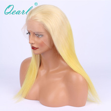 Ombre 613 Blonde Virgin Peruvian Hair Wigs With Baby Hair+Pre-Plucked Hairline Lace Front Wigs(China)