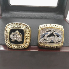 Cost Price Ring sets with Wooden Box Replica Copper 2pcs/Packs Colorado Avalanche Championship Ring for Fans(China)
