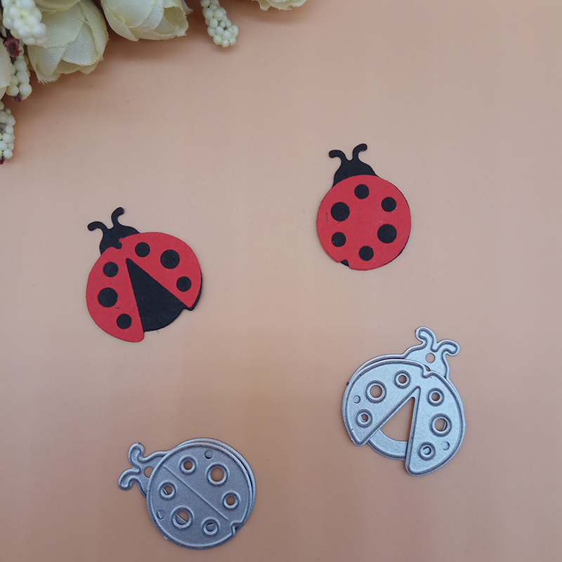 Cartoon Ladybug Metal Cutting Dies Card Album Craft Stencil Scrapbooking Die Cut
