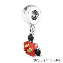 "Beads Fits Pandora Bracelets 925 Sterling Silver Jewelry Mouse ""Mickey Ear Hat"" Original Fashion Charms CKK(China)"