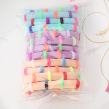 M MISM 1pack=12pcs Candy Colored High Quality Hair Holders Elastics Hair Tie Hair Band Gum Circle Ponytail Headwear Scrunchy(China)