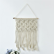 Unique Handmade Macrame Wall Hanging Home Decor Retro Handwoven Cotton Thread Craft Handcrafted Home Decoration High Quality(China)