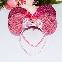 Minnie Mouse Ears Headband Polka Dot Bow Birthday Party Decorations Kids Party Favors 1PC