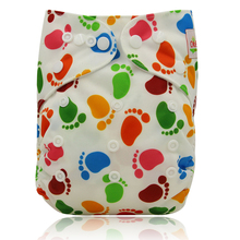 Ohbabyka Couches Lavables Baby Nappy Cover Adjustable Baby Cloth Diaper Cover Pocket Character Reusable Baby Diapers Washable