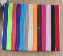 100pcs/lot 20color alternative Shimmery Stretchy FOE headbands Interchangeable hair band Hair Accessories free shipping(China)