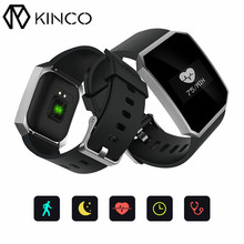 KINCO IP67 Sport Blood Pressure Oxygen Health Heart Rate Monitor Black Purple Blue Weather Watch Smart Bracelet for IOS/Android(China)