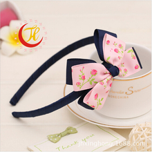 2017newborn children baby girls scrunchy srange of hoop for hair band grosgrain ribbon bows bands hairbows accessories ST-33(China)