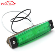 1Pcs 6colors 12-24V 6 LED Car Bus Truck Trailer Lorry Side Marker Lights Indicator Light Side Brake Signal Lamp  Blinker Light