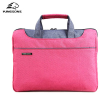 Kingsons Men and Women Laptop Handbag Notebook Computer Sleeve Bags Carrying Office Bussiness Preferred Travel Tote(China)