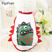 PipiFren DogS Tshirt Dinosaur Vest Cartoon Summer Pets clothes For Small Cats Cute Fashion Costume Colorful abrigo perro cani