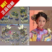 Lock heart jade costume hair accessory classical hair stick cheongsam accessories show the bride married suit pratensis coronet(China)
