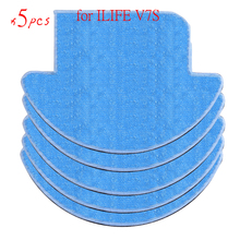 NEW 5 pcsx chuwi ilife Robot Vacuum Cleaner MOP Cloths for ILIFE V7S Replacement Mop Cleaning Robot Vacuum Cleaner Mop