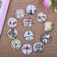 24pcs 12mm Restore Antique ways element pattern Round Handmade Photo Glass Cabochons & Glass Dome Cover DIY Handmade Cabochon(China)