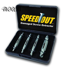 New Speed Off 4 pcs / set Screw Extractor Set drill out easy to Remove Screw broken Speedout Set(China)