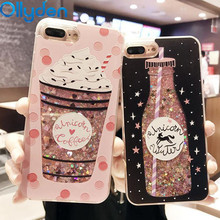 Buy Ollyden Girls Cute Drink Bottle Bling Stars Dynamic Liquid Quicksand Phone Case iPhone 6 6s 7 8 Plus X Back Cover Coque Capa for $2.69 in AliExpress store