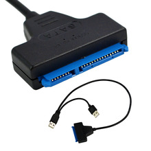 "Generic USB 2.0 to SATA 7+15 Pin 22Pin Adapter Cable for 2.5"" HDD Hard Disk"