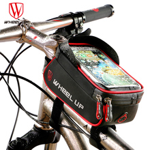 WHEEL UP Rainproof Front Zipper Bike Bag MTB Mountain Cycle Touch Screen Phone Bags Waterproof GPS Cycling Pouch Panniers 2017(China)