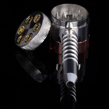 Revolver Creative mini cigarette tobacco pipes smoking weed grinder herb Crusher Bong Metal tobacco hookah pen tube long holder(China)