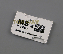 Micro SD HC to Memory Stick MS Pro Duo Card Dual 2 Slot Adapter for Sony PSP 1000 2000 3000(China)