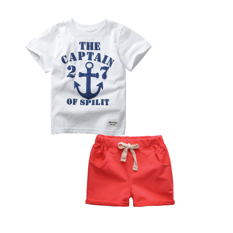 Kids Shorts + T shirts 2pcs Boys Sport Suit Summer Style Children Clothing  Set Sport Letter Baby Boy clothes 2-6 Years<br><br>Aliexpress