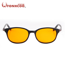 2017 FONHCOO New fashion TR90 Computer goggle Anti Blue ray Radiation protection glasses round Reduce the fatigue gaming glasses