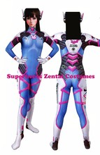Newest D.VA Costume 3D Print Classic dva Skin Suit Halloween Cosplay dva Zentai Catsuit Custom D.VA Bodysuit(China)