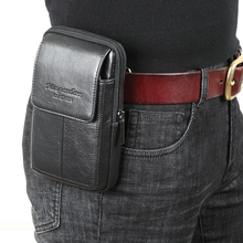 meigardass New style High Quality Men Genuine Leather Waist Bag Male Travel Fanny Pack Belt Loops Hip Bum Wallet bag #285-L(China)