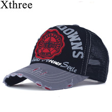 Xthree summer baseball cap snapback hats casquette embroidery letter cap bone girl hats for women men cap(China)
