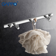 GAPPO 1 set clothes hook Modern Bathroom accessories 3 Hooks Wall mount zircalloy Towel Holder hook restroom Tower Hooks GA202-3(China)