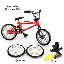 "Fuctional Finger Mountain Bike BMX Fixie Bicycle Boys' finger desktop Novelty Toy Creative Game Gift 4.4"" Alloy Cycling"