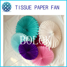 "Free Shipping 20pcs/lot Tissue Paper Fans 10""(25cm) Chinese Paper Fan Retail/Wholesale for Home and Wedding Decoration"
