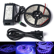 12V UV 395-405nm led strip black light 5050 3528 SMD Ultraviolet Waterproof tape lamp + power supply for DJ Fluorescence party(China)