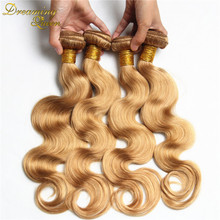 Great 7A Color #27 Hair Mongolian Virgin Hair Body Wave 3Pcs Honey Blonde Mongolian Hair Weaves Human Hair Extensions