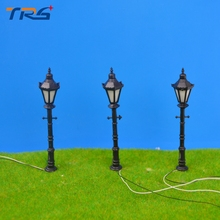 Teraysun plastic scale model ABS plastic courtyard lampost light for model train layout street lamp.model light