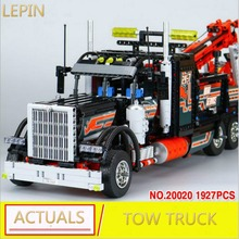 20020 Lepin Technical Mechanical Ultimate Series The American Style Heavy Container Trucks Set 8285 Building Blcoks Bricks Toy(China)