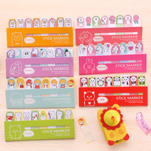 7pcs Animal Memo Pad Notes Memo Kawaii Post it Paper Sticker Notebook Bookmark Calendar Decor School Office Stationery Supplies(China)