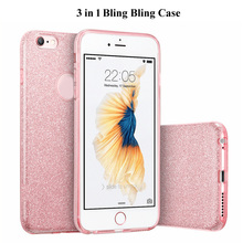 Buy Hot 3 1 Bling Card+Clear PC Hard Phone Case iPhone 8 7 6 6S Fashion Shining Back Cover iPhone 6s 7 8 Plus Coque Capa for $2.36 in AliExpress store