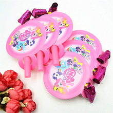 6Pcs My Little Pony Party Supplies Funny Whistles Childrens Birthday Party Blowout Baby Birthday Supplies pony party gifts