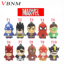 VBNM Pen Drive Genuine 4G 8G 16 32G USB 2.0 USB Flash Drive Flash Memory PenDrive Cartoon Character superman batman USB Drive(China)
