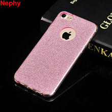 Nephy Mobile Phone Case For iPhone 7 6 5 s SE 5s 6s Plus 6Plus 7Plus Ultrathin Back Cover Luxury Shining Glitter Powder Soft TPU(China)