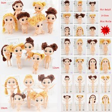 9-18cm Mini Dolls With Brown Golden Hair 25 Style Choose Cute Ddung Cheap Dolls For Girls Toy Birthday Present Christmas Gift